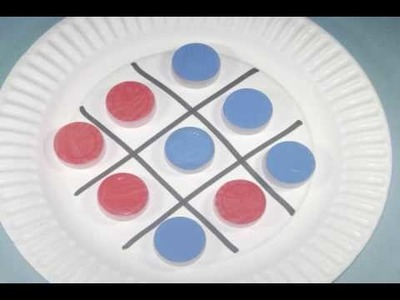 How to make a colorful recycled tic tac toe game - EP