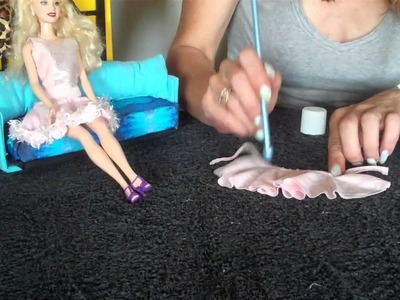 How to make Barbie Doll Clothes skirt