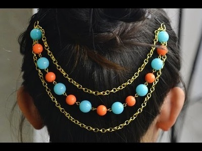 How to Make Candy Hair Accessories with Beads and Chains - Tutorial .