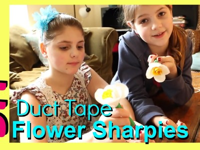 How to Make Duct Tape Stuff | DIY Sharpie Duct Tape Flower Pen | Spring Sharpie Marker Crafts