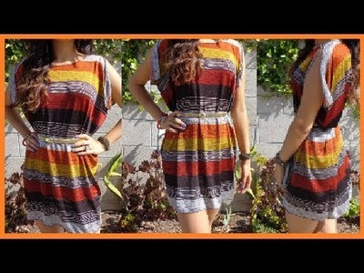 "How to make Short ""N"" Sassy Slit Sleeved Dress DamaV425 DIY"