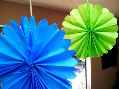 How to make Tissue Paper Flowers Rosette Very EZ!