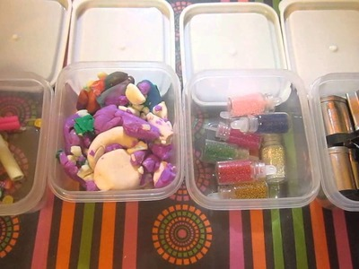 How To Organize Craft Supplies With Dollar Tree Container's!!!