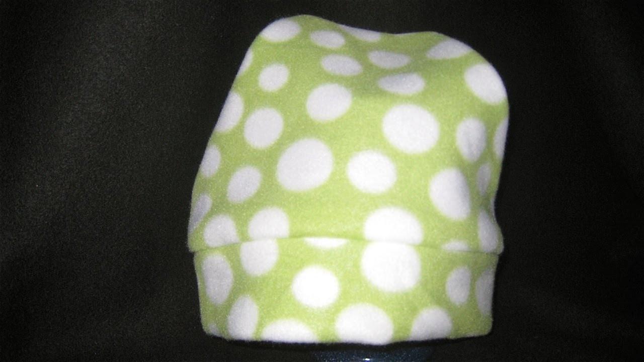 how to make a no sew fleece hat