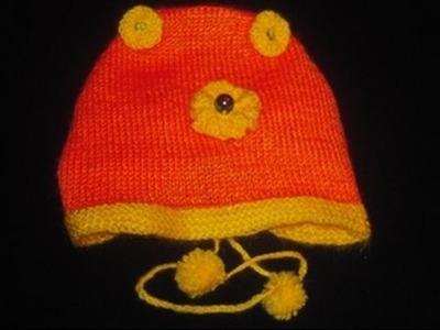 Knitting Baby's Cap in Urdu.Hindi by Azra Salim