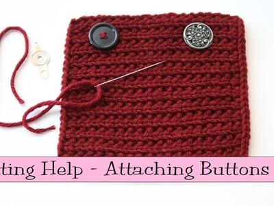 Knitting Help - Attaching Buttons