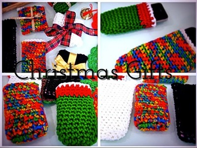 Last Minute Christmas Gift Idea.Crochet Cell Phone Pouch (In 15 Minutes)