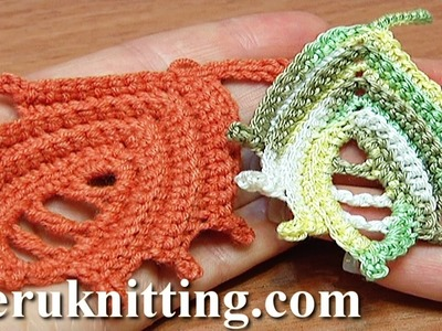 Leaf Crochet How to Tutorial 25 Work In Back Loop Technique