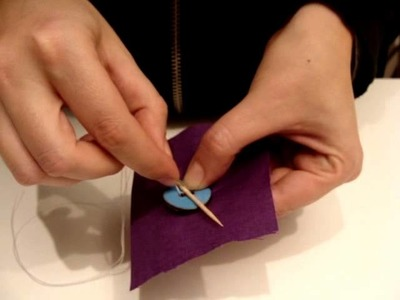 #Learn How - Sewing  Stitching a button