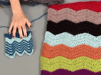 Loose Ends: How To Do a Chevron Using Colour