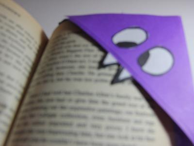 Origami Corner Bookmark Tutorial - Monster