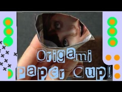 Origami: Drink and Trash Paper Cup Tutorial✂