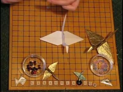 Origami Hanging Crane Ornament Instructions