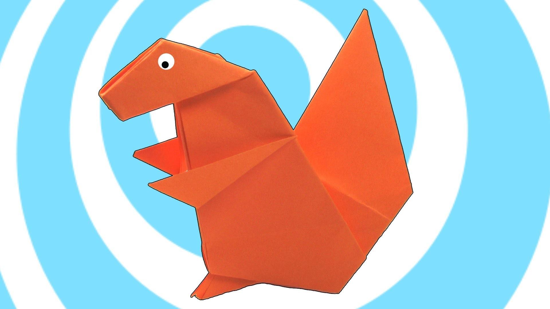 Paper Origami Squirrel Instructions