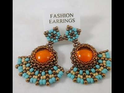 Preview of Amber Rays Earrings Beading & Jewelry Making Tutorial Series