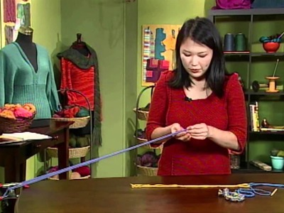 Quick Knitting Tips with Eunny Jang: How to Twist Cord, from Knitting Daily TV 611