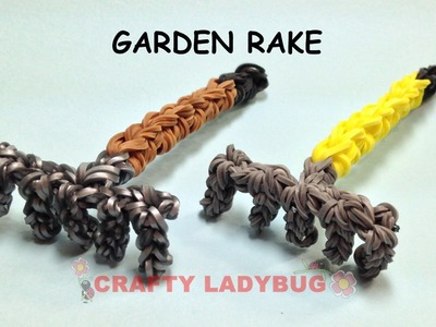 Rainbow Loom Band GARDEN RAKE Advanced Charm Tutorials by Crafty Ladybug.How to DIY