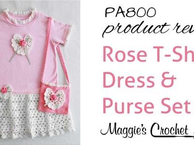 Rose T Shirt Dress and Purse Pattern Review PA800