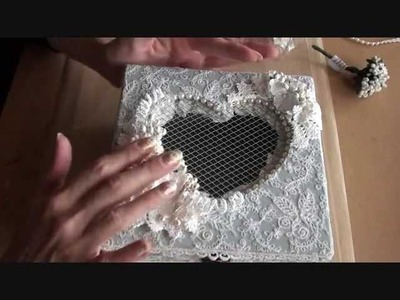 Shabbychic heart box  ( 1st Design team project for Wild Orchid Crafts )