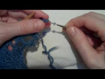 She-Knits- Shoshie- How to put a bead on to a knit stitch with a crochet hook or wire