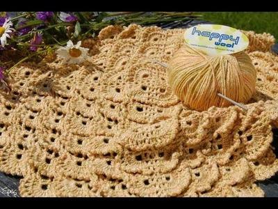 Shell stitch crochet square blanket
