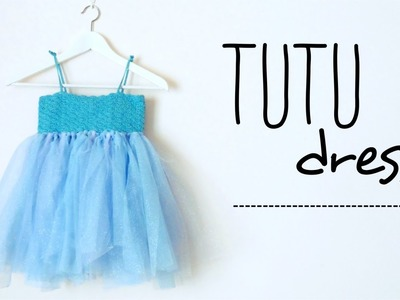 TUTU dress with CROCHET top for girls and babies DIY (all sizes! no sew tutu!)
