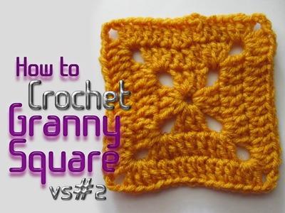 Vol 09 - Crochet Pattern - Solid Granny Square