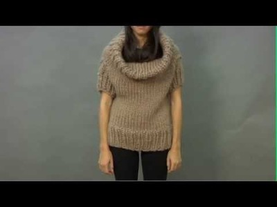 #16 Cowl Neck Top, Vogue Knitting Winter 2009.2010