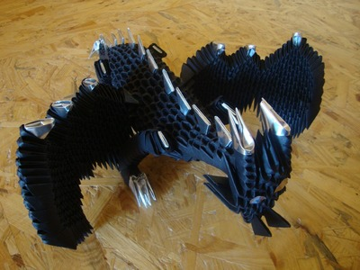 3D origami dragon tutorial (remake)