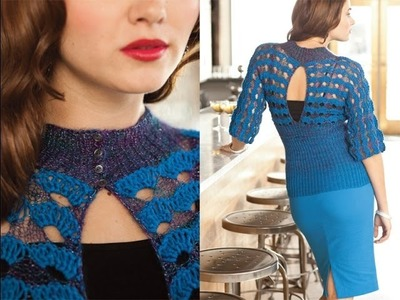 #5 Lace Keyhole Top, Vogue Knitting Holiday 2013