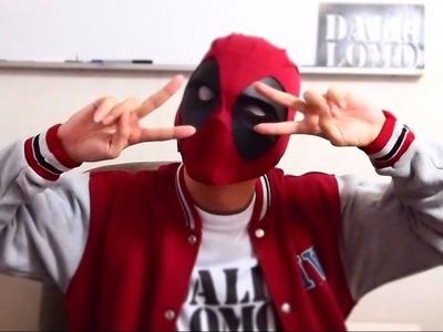 #93: Deadpool Semi-Rigid Mask DIY Part 2 - White Eyes & Fabric