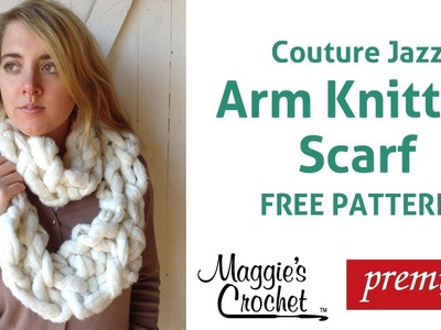 Arm Knitting Couture Jazz Infinity Scarf - Right Handed