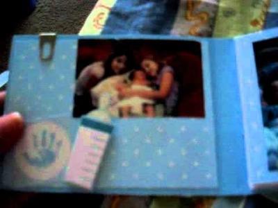 Baby Mini Scrapbook