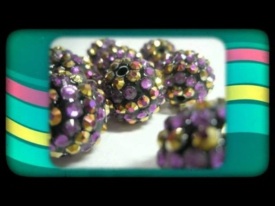 Basketball Wives Inspired Beads of the week - Rhinestone Resin