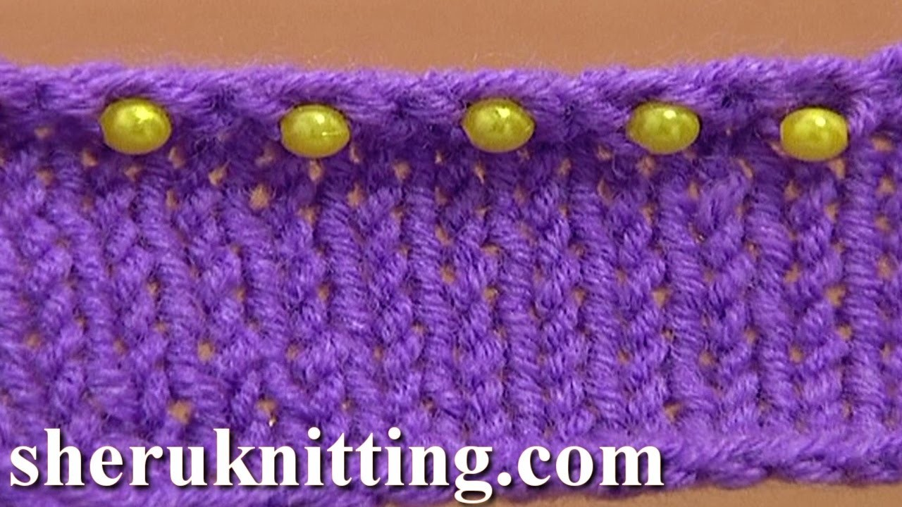 Beaded Ending Decorative Bind Off Tutorial 7 Method 11 of 12 Sewn Bind-off