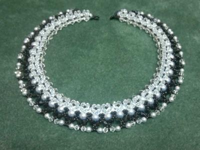 Beading4perfectionists : Classy Swarovski pearls. bicones necklace beading tutorial