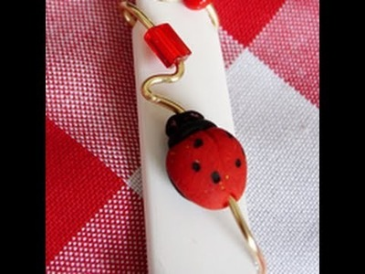 Cool2Craft Almost Dailies - How to Make a Polymer Clay Glittered Ladybug Bead by Candace Jedrowicz