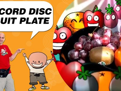 Crafts Ideas for Kids - Record Disc Fruit Plate | DIY on BoxYourSelf