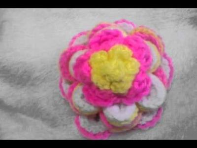 Crochet cookie flower Irene