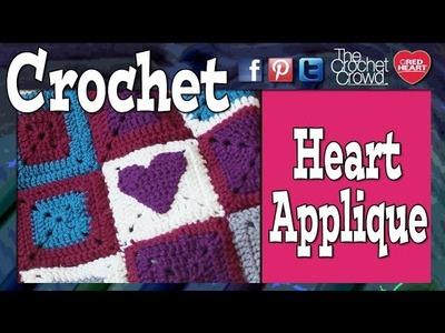 Crochet Heart Applique Tutorial