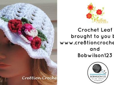 Crochet Medium Leaf Tutorial