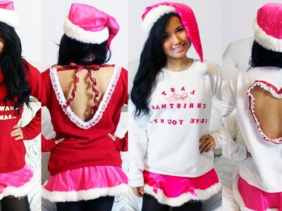 "DIY : 2 Styles of ""Ugly"" Christmas Sweaters 2012"