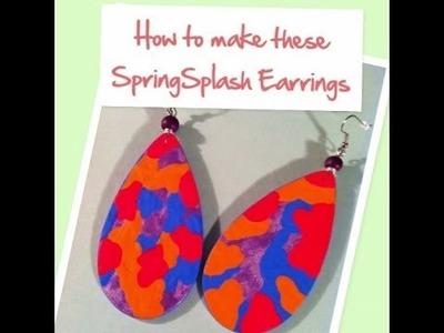DIY #3 How to make Spring Splash Handpainted Earrings