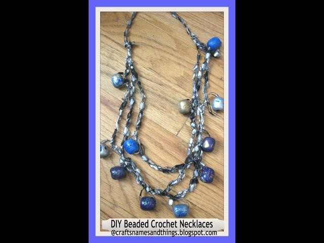DIY Beaded Crochet Necklaces Tutorial. How make  to a crochet necklace. DIY Crochet Necklaces