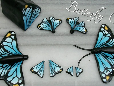 DIY Butterflies - Polymer Clay Cane