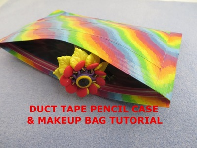 DIY Easy Duct Tape Pencil Pouch & Makeup Bag - How to do Tutorial