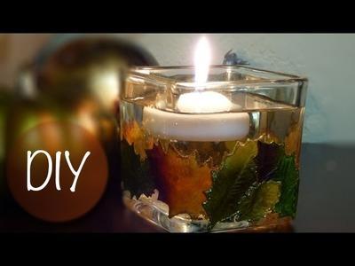 DIY Fall Candle Holder | Fall Home Decor