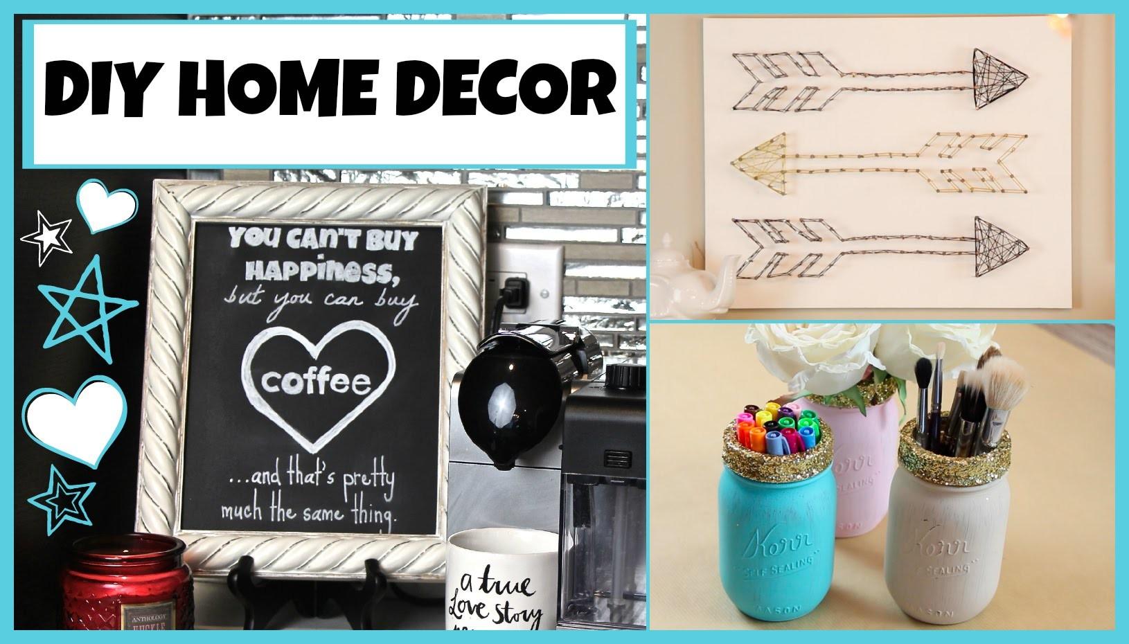 DIY Home Decor! String Art - Mason Jar Organizers & Perfect Chalkboard Lettering!