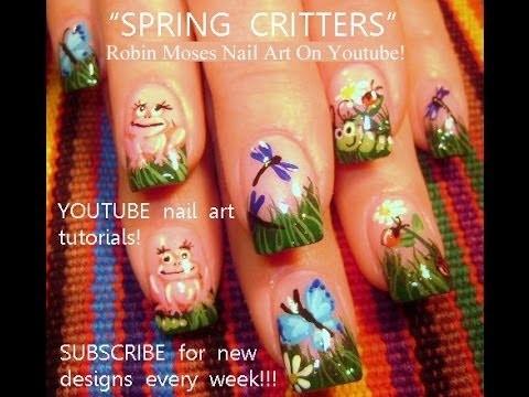 DIY Nails! 5 Easy Nail Designs! Spring Critter Art