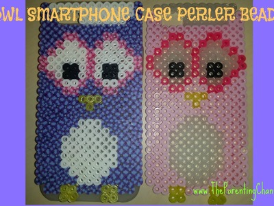 DIY OWL SMARTPHONE IPHONE CASE PERLER BEADS HOW TO